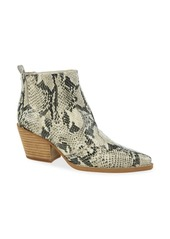 Sam Edelman Winona Snakeskin Print Leather Booties