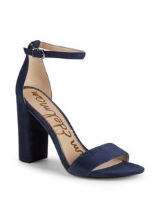 Sam Edelman Yaro Block-Heel Suede Sandals
