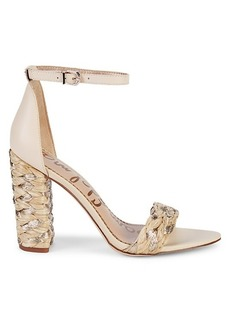 Sam Edelman Yoana Woven Raffia & Leather Sandals