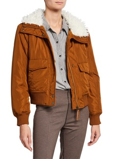 Sanctuary Aviator Flight Jacket with Turndown Collar