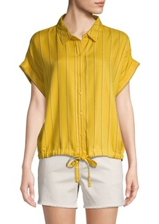 Sanctuary Borrego Striped Drawstring Shirt