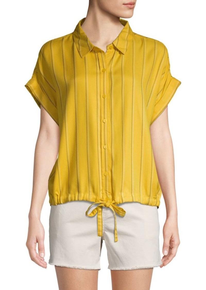 Sanctuary Borrego Striped Drawstring Shirt