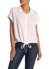 Sanctuary Miles Borrego Tie Front Shirt (Regular & Petite)