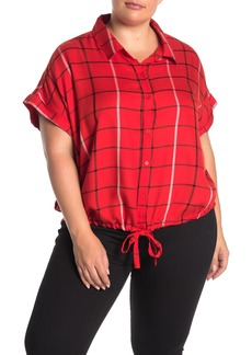 Sanctuary Borrego Tie Bottom Shirt (Plus Size)
