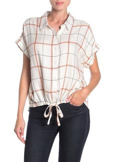 Sanctuary Borrego Tie High/Low Camp Shirt
