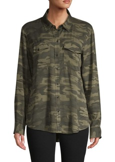 Sanctuary Boyfriend Camo-Print Shirt
