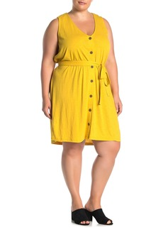 Sanctuary Button Front Tie Dress (Plus Size)