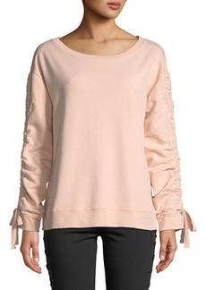 Sanctuary Camden Ruched-Sleeve Sweatshirt