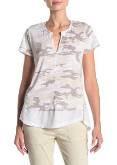 Sanctuary Camo Mixed Media T-Shirt