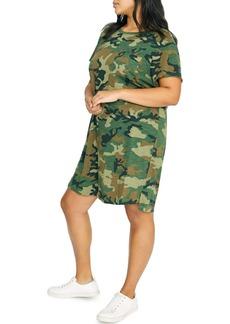 Sanctuary Camo One-Pocket T-Shirt Dress (Plus Size)