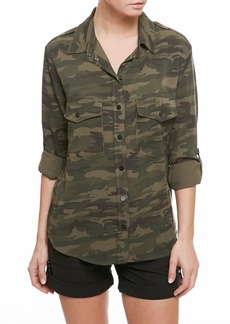 Sanctuary Camo Print Boyfriend Shirt