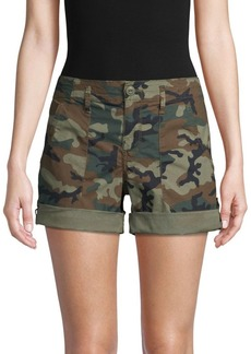 Sanctuary Camouflage Stretch-Cotton Shorts