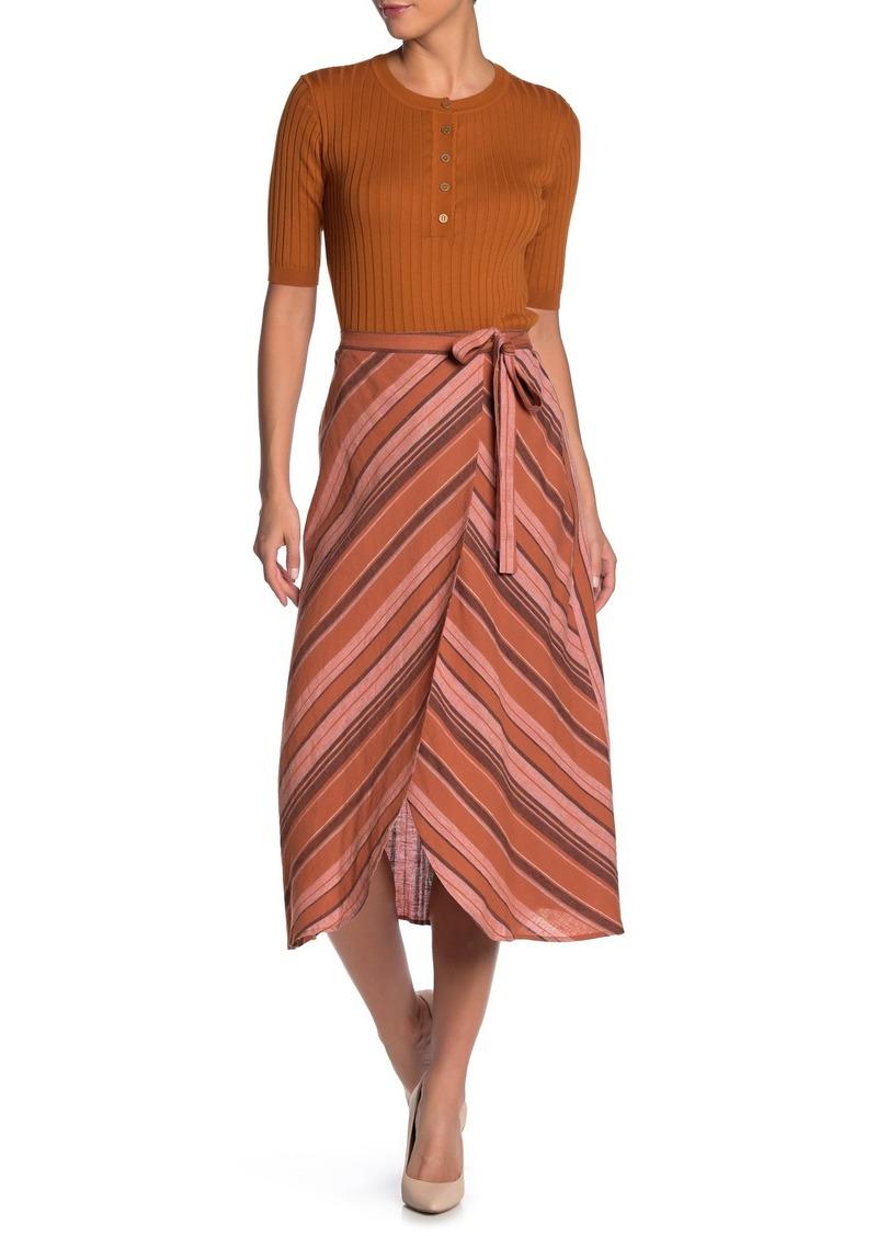 Sanctuary Catching Rays Linen Blend Midi Skirt