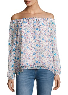 Sanctuary Chantel Off-the-Shoulder Floral-Print Blouse