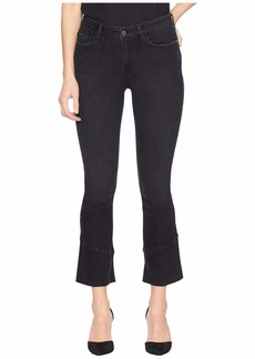 Sanctuary Connector Kick Crop Jeans w/ Tulip Hem in Noir Black