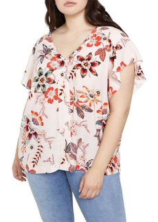 Sanctuary Countryside Flutter Sleeve Top (Plus Size)