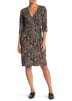Sanctuary Cozy Snake Print Mock Wrap Dress
