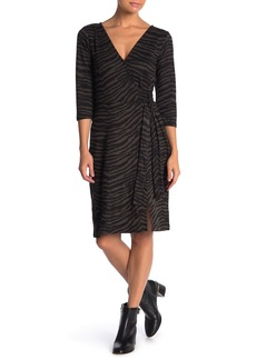 Sanctuary Cozy Zebra Mock Wrap Dress (Regular & Petite)