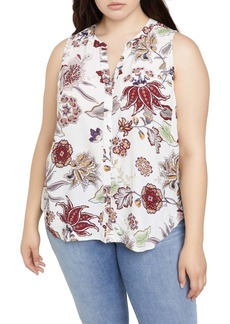 Sanctuary Craft Floral Print Shell (Plus Size)