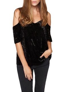 Sanctuary Drea Crush Velvet Off-The-Shoulder Blouse