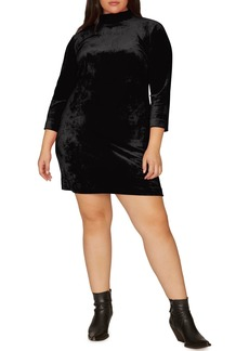 Sanctuary Endless Night Velour Shift Dress (Plus Size)