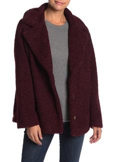 Sanctuary Faux Fur Teddy Notch Lapel Jacket (Petite)