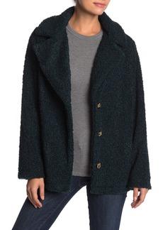 Sanctuary Faux Fur Teddy Notch Lapel Jacket