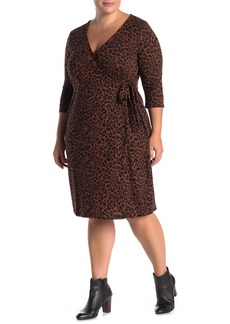 Sanctuary Fleece Animal Print Dress (Plus Size)