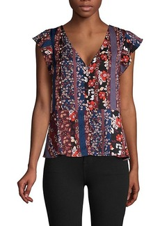 Sanctuary ​Floral-Print Peplum Top