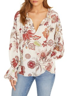 Sanctuary Floral Smocked Detail Blouse