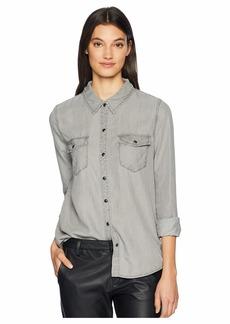Sanctuary Grey Tencel Work Shirt