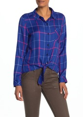 Sanctuary Haley Tie Front Plaid Shirt