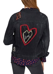 Sanctuary Heartbreaker Embroidered Denim Jacket