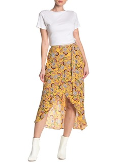Sanctuary Jamie Faux Wrap Midi Skirt