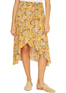 Sanctuary Jamie Faux Wrap Midi Skirt (Regular & Petite)