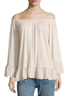 Sanctuary Juliette Ruffle-Trim Blouse