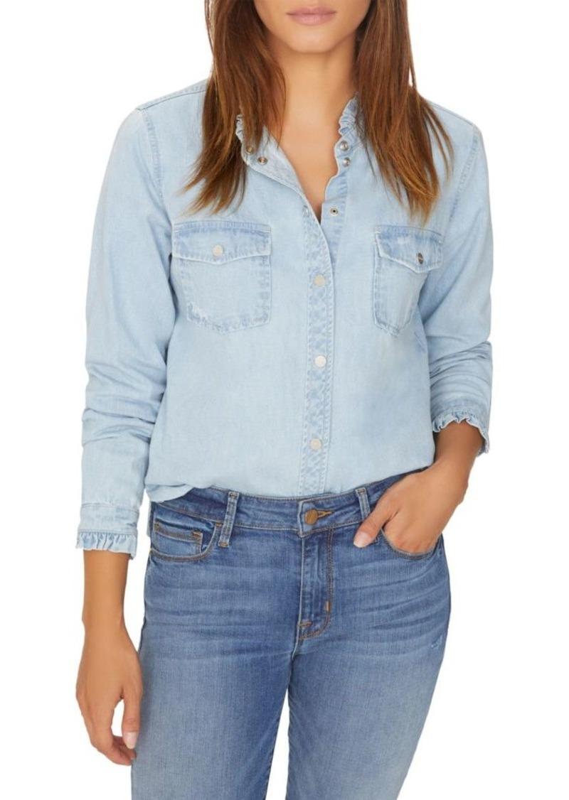 Sanctuary Juniper Ruffled Denim Button-Down Shirt