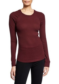 Sanctuary Kenzie Ruched-Sleeve Thermal Top