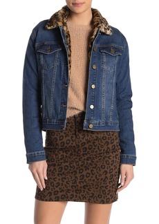 Sanctuary Kylie Faux Fur Denim Jacket