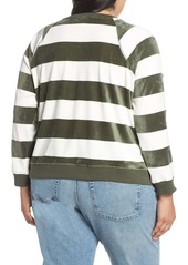 Sanctuary LaBrea Stripe Velour Pullover (Plus Size)
