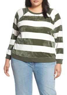 Sanctuary LaBrea Stripe Velour Pullover (Plus Size)