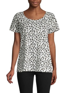 Sanctuary Leopard-Print Cotton Blend Tee