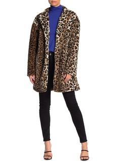 Sanctuary Leopard Print Faux Fur Jacket (Petite)