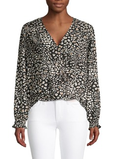 Sanctuary Leopard-Print High-Low Blouse