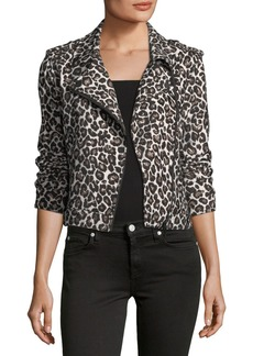 Sanctuary Leopard-Print Moto Jacket