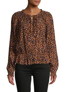Sanctuary Leopard-Printed Flounce Blouse