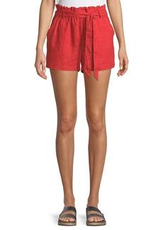 Sanctuary Linen Tie-Waist Paperbag Shorts
