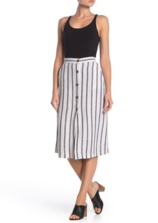 Sanctuary Mabel Stripe Linen Blend Midi Skirt