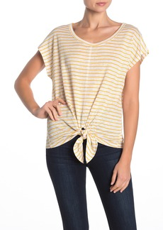Sanctuary Maddy Striped Linen Tie Front T-Shirt