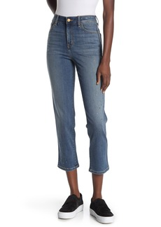 Sanctuary Metallic Paint High Rise Modern Straight Crop Jeans